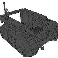 28mm Imperets armoured vehicle