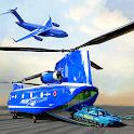 US Police Plane Transporter - Transport Simulator icon