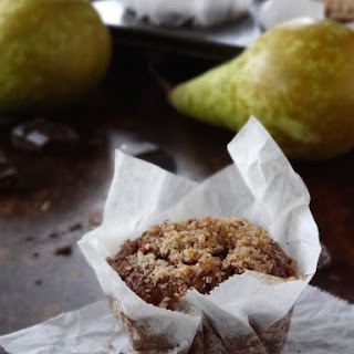 Pear, Hazelnut & Chocolate Muffins {gluten Free}