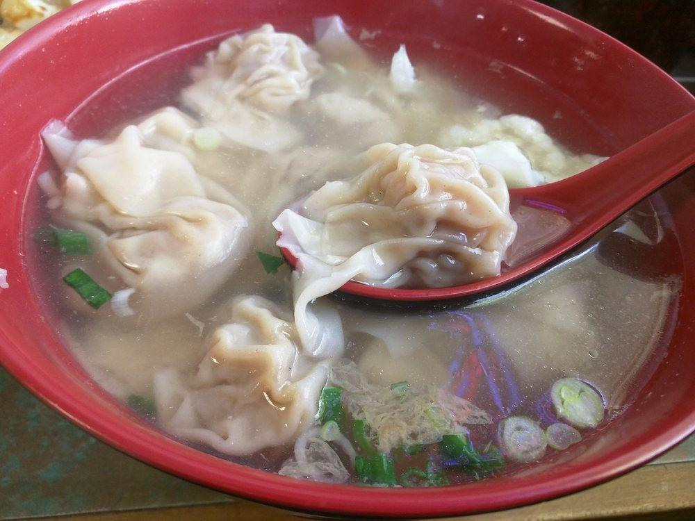 Photo of Gum Wah Restaurant - Oakland, CA, United States. Every wonton has a meatball and a shrimp