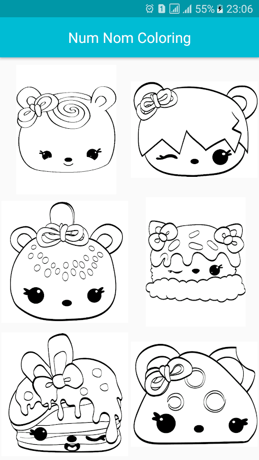Num Noms Coloring Pages