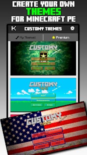Customy Themes for Minecraft PE- screenshot thumbnail