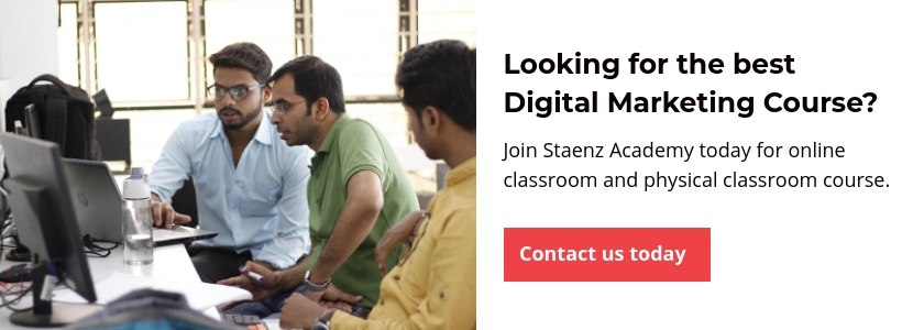Contact us to join Staenz Digital Marketing Academy