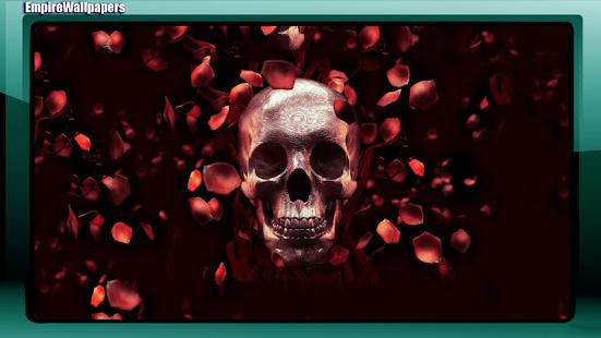 Skull And Roses Wallpaper
