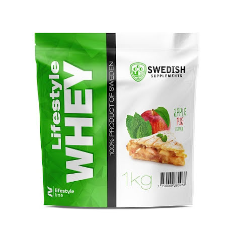 Swedish Supplements Lifestyle Whey Protein 1kg - Apple Pie