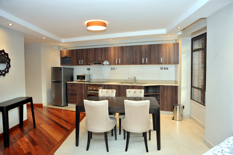 Dining space at Harry Thuku Street Apartments