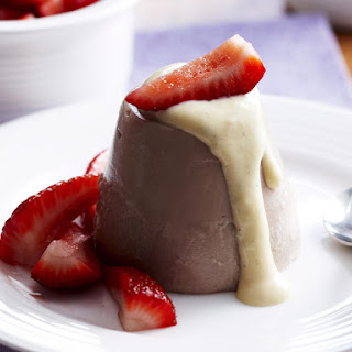 Chocolate Blancmange with Crème Anglaise