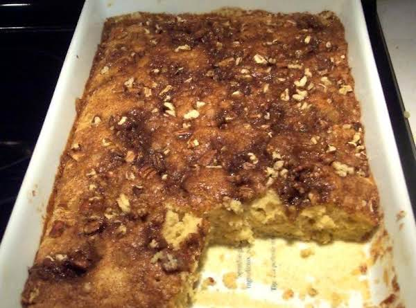 Overnight, Breakfast Oven Baked Coffee Cake!