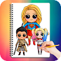 Drawing Cute Chibi Super Heroes APK icon