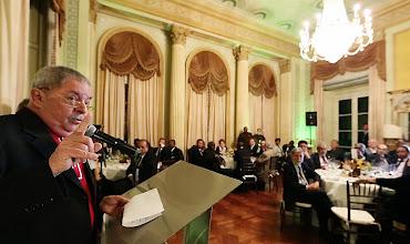 Photo: Lula discursa durante o jantar. Foto: Ricardo Stuckert/Instituto Lula