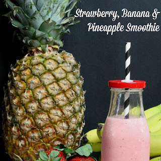 Strawberry, Banana & Pineapple Smoothie