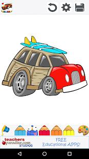 Osobní automobily Omalovánky - náhled