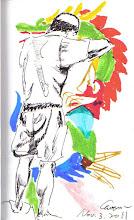 Photo: 做花燈2011.11.03鋼筆+彩繪毛筆 宜蘭監獄的花燈小有名氣,而這些都是由收容人一點一點手工做出來的,這組花燈完成後將會放在國立傳統藝術中心展覽,他們在苦窯裡黑白的身影,卻展現彩色斑瀾的技藝留給社會上的人們,不知看花燈的人們有誰會知道這些美麗的作品是出自受刑人之手?而未來社會上是否願意留給他們一席之地?
