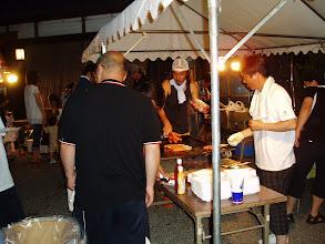 Photo: 焼きそば、フランクフルト、焼き鳥食べ放題