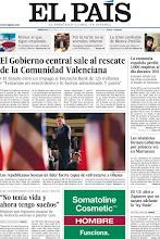 """Photo: En nuestra portada del miércoles 4 de enero: """"El Gobierno central sale al rescate de la Comunidad Valenciana"""", """"La economía española perdió 1.000 empleos al día durante 2011"""", y los testimonios de mujeres que lograron escapar del maltrato. http://www.elpais.com/static/misc/portada20120104.pdf"""