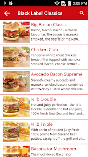 Wendy's NZ- screenshot thumbnail