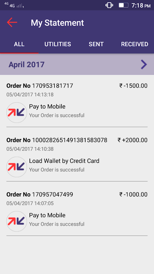 Fino BPay- screenshot