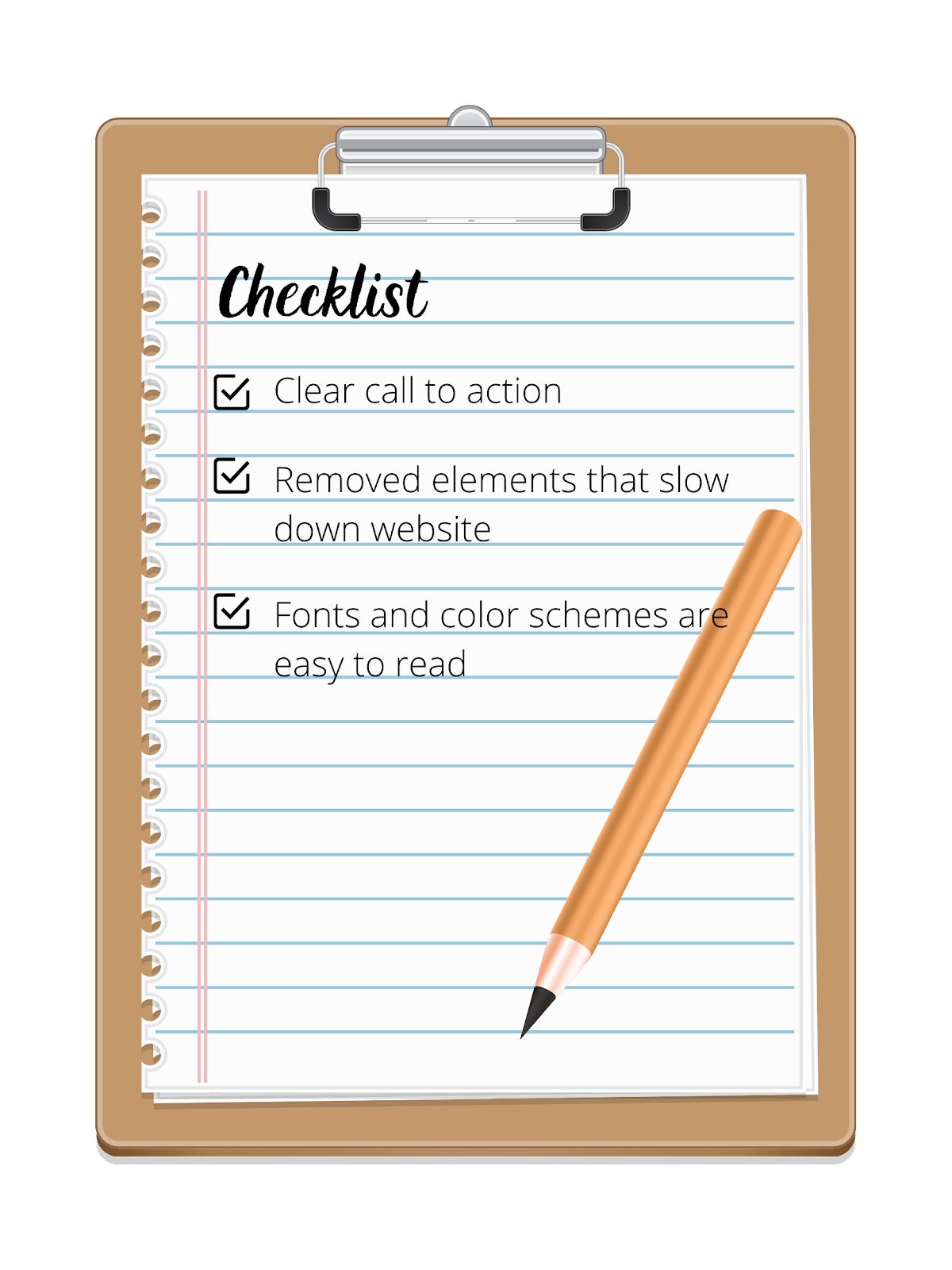 Your website must agree to this checklist to have good user experience.