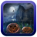 Horror house night icon