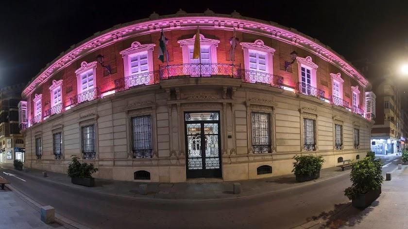 El palacio de la Diputación Provincial.