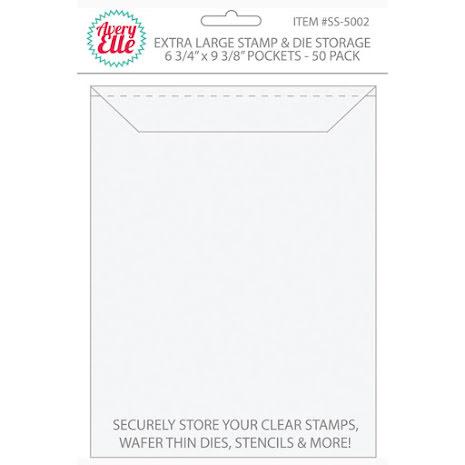 Avery Elle Stamp & Die Storage Pockets 50/Pkg - Extra Large