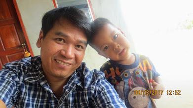 Photo: Gee with Werapat (Kachin boy)