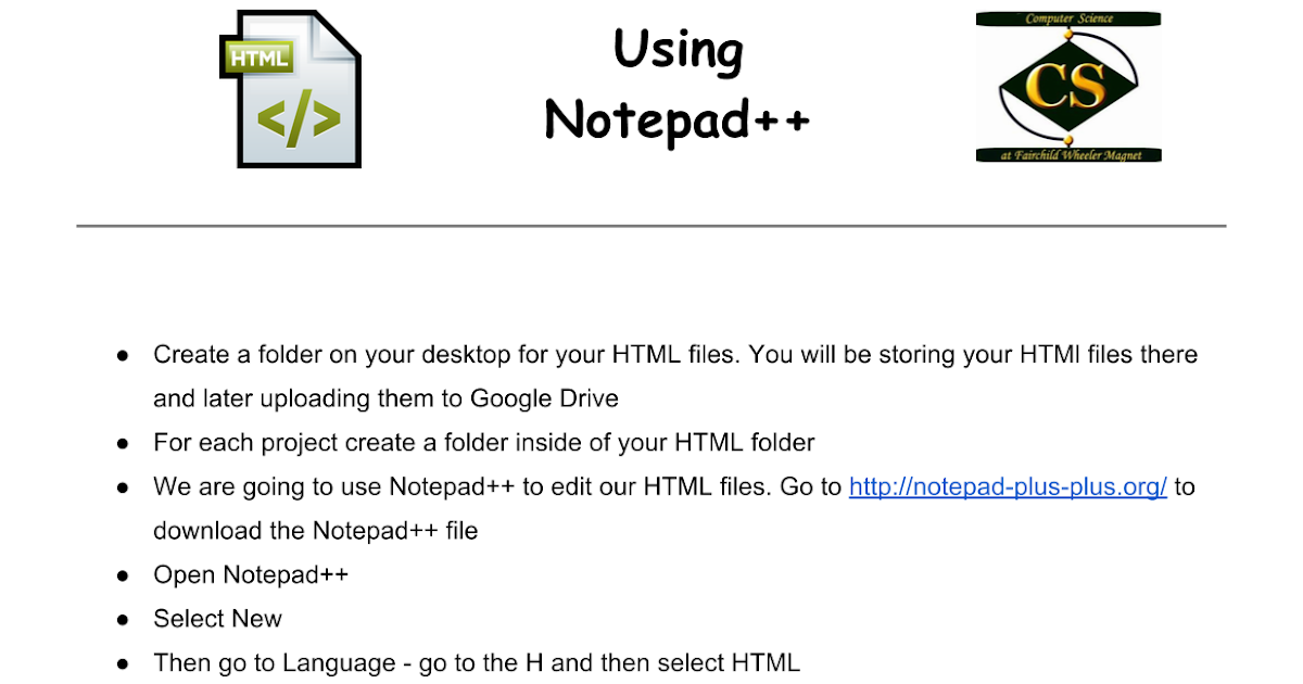 Using Notepad++ - Google Docs