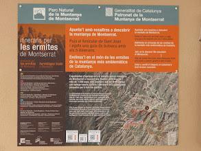 Photo: Mapa de los distintos camino que recorren las distintas ermitas que estan situadas en la montaña de Montserrat.