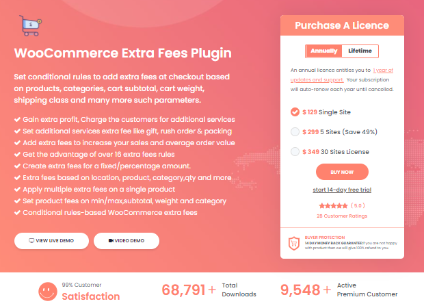 Extra Fee Plugin for WooCommerce