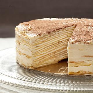 Mille-Crêpe Tiramisu Birthday Cake