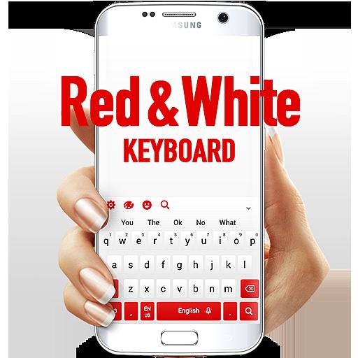 Red White Keyboard