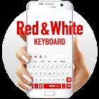 Rojo Blanco Teclado icon