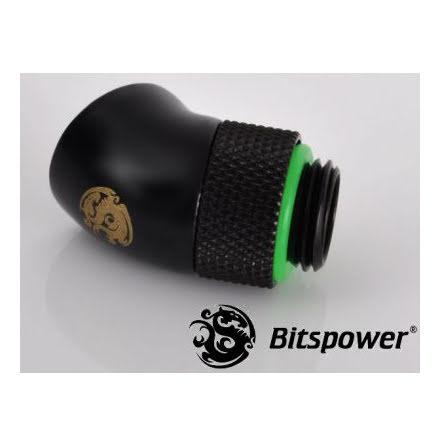 """Bitspower svivel, 45°, 1/4""""BSPx1/4""""BSP, Matt Black"""