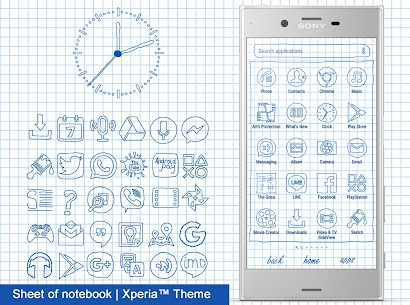 Sheet of notebook | Xperia™ Theme + icons 3.0.001 PAID 1