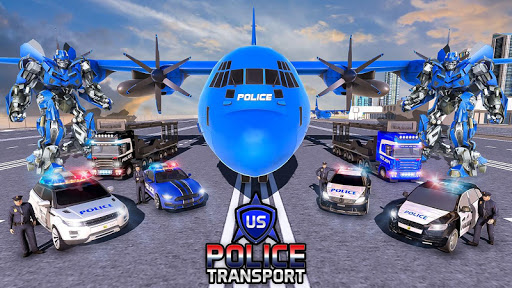 NOUS Police Transformed Robot - Police Avion  captures d'u00e9cran 13