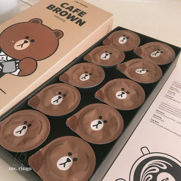首爾・超療癒韓國LINE FRIEND布朗熊/熊大Nespresso雀巢膠囊咖啡