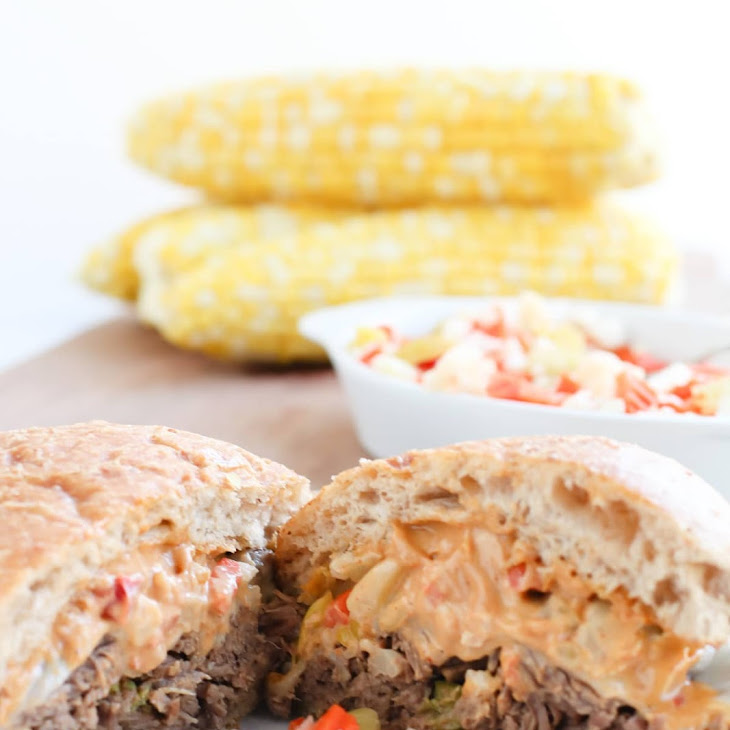 Pressure Cooker Pepperoncini Beef Sandwiches with Chopped Giardiniera