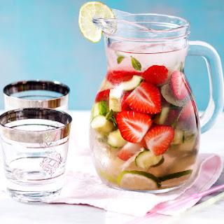 Cucumber Strawberry Detox Water.