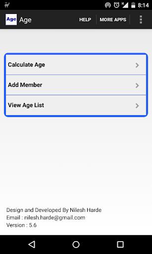 Age Calculator Ads Free