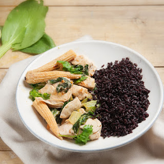 Coconut & Ginger Chicken With Pak Choi & Black Rice