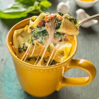 Spinach Ricotta Lasagna in a Mug.