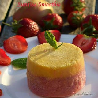 Frozen Strawberry Sunrise Smoothie | Strawberry Mango Swirl Smoothie Pops