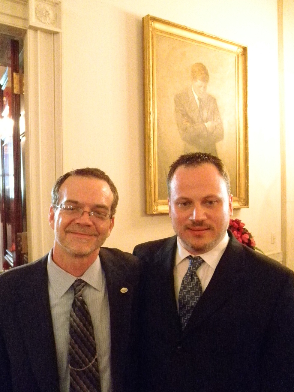Photo: Bil Browning of The Bilerico Project and Jerame Davis of National Stonewall Democrats.