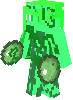 this girl is a green slimey grose monster that loves its slkme it wants a apocalypse of slime and a army of slime and slimebify humans anmails fish and the world
