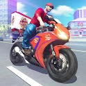 Hot Pizza Delivery Bike Boy icon