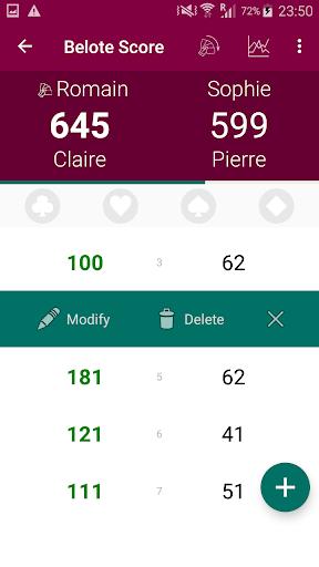 Belote Score by Romain Lebouc (Google Play, United States
