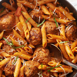 One-Pot Sausage Meatballs with Creamy Tomato Penne Recipe