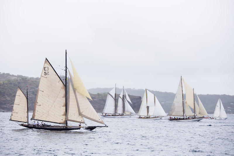 Photo: Kate sailing in the Antigua Classic Yacht Regatta, Old Road Race.