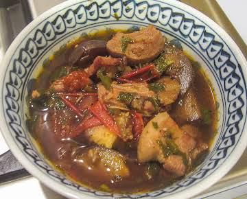 Vietnamese Spicy Eggplant & Mint Soup