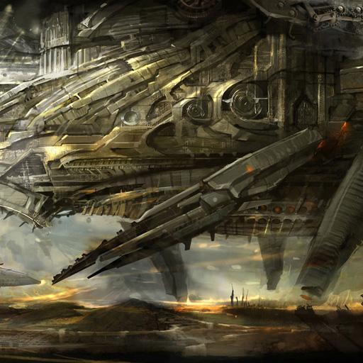 古そうな宇宙船